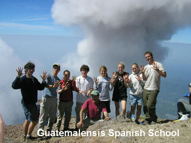Celebrating 80 times on the summit of the Santa Maria volcano in the western highland of Guatemala.